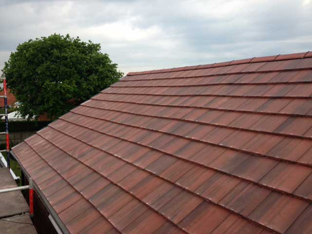 Flute roofing concrete roofers in manchester cheshire for Flat tile roof
